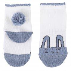 Chaussettes lapin bleu enfants