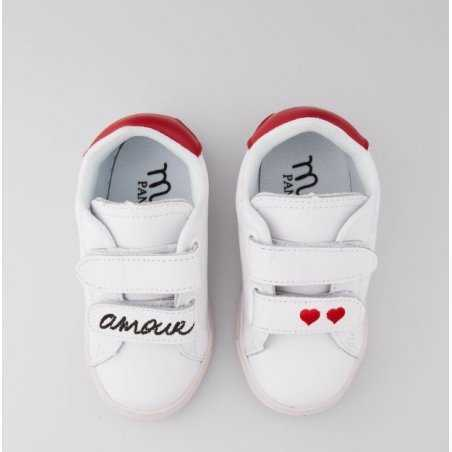 Sneakers blanche mini amour pour fille