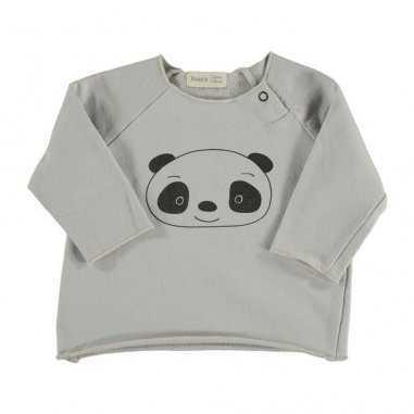Tee-shirt écru panda pour enfants