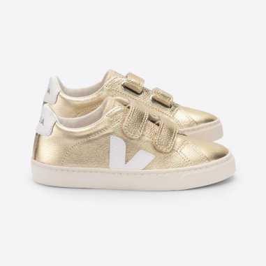 super populaire a6b7b 9b337 Sneakers pour enfants Veja doré