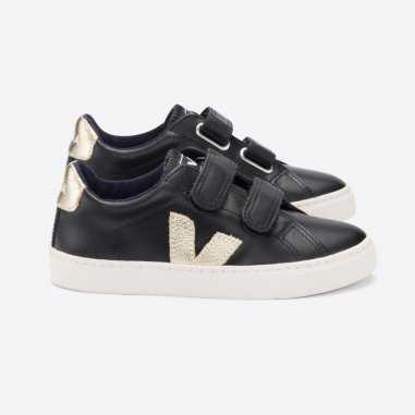 Sneakers pour enfants noires Veja