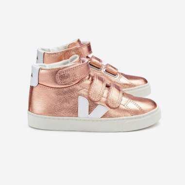 Sneakers montante  rose pour fille de la marque Veja à prix doux