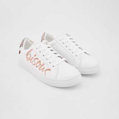 Sneakers simone bisous pour femmes Bons Baisers de Paname blanches