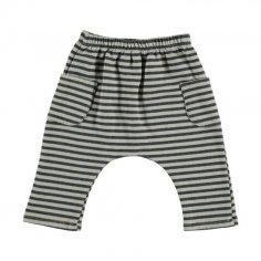 Pantalon pour enfants en coton organique molletonné au meilleur prix chez petites fripouilles