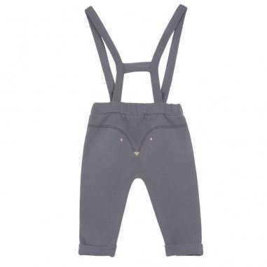 Pantalon à bretelles pour bébés avec un jolie imprimé renard de la marque emile et ida