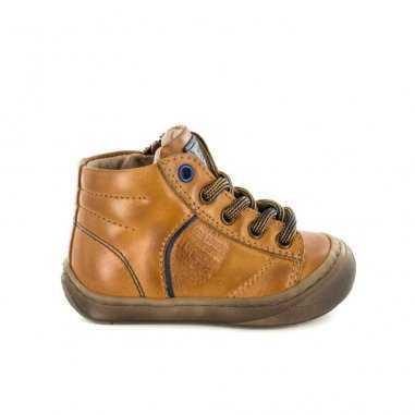 Chaussures premiers pas pour enfants Stones and bones camel avec coque à l'enfant pour protéger les pieds