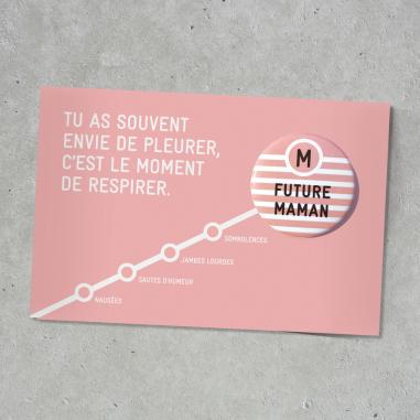 Badge pour future maman de la marque Bab Paris à prix bas