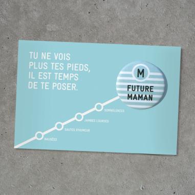 Badge pour future maman de la marque Bab Paris à prix tout doux