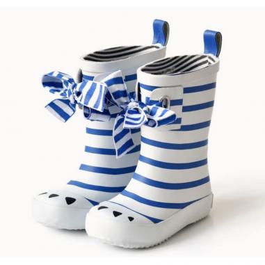 Bottes de pluie pour enfants Boxbo à rayures bleu au meilleur prix