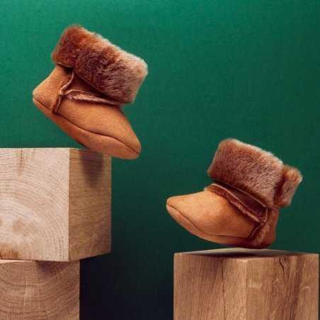 Chaussons fourrés adaptés pour les tout petits à prix doux