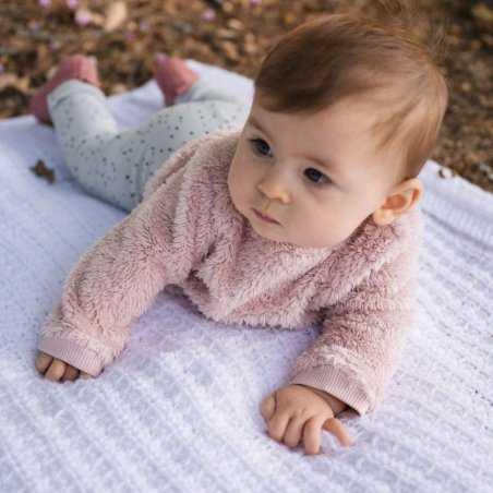 Sweat peluche pour bébés de la marque Emile et ida à prix doux