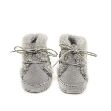 Chaussons fourrés à offrir dès la naissance
