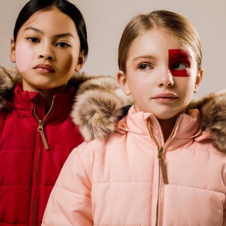 Magnifique doudoune rose pour enfants de la marque léa et jojo au meilleur prix