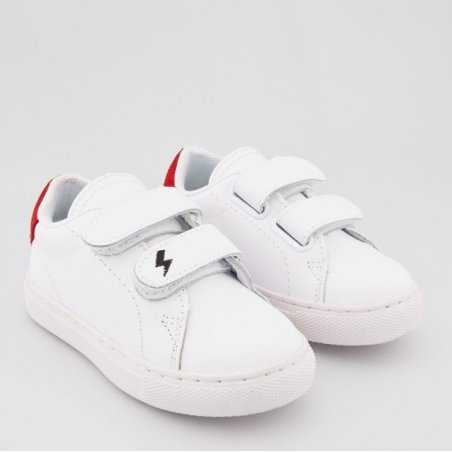 Sneakers blanche mini eclair mixte