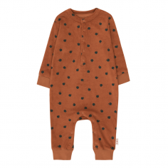 Combinaison terracotta pour bébés de la marque Tinycottons