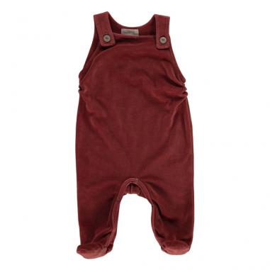 Barboteuse bordeaux pour bébés de la marque Bean's Barcelona
