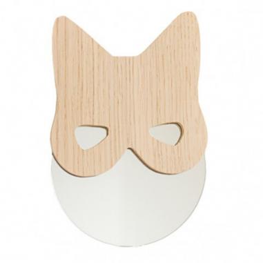 Miroir chat en bois pour décorer une chambre d'enfants