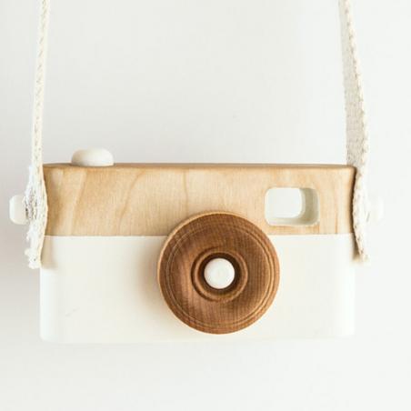appareil photo en bois blanc pour enfants Craffox pour Noël