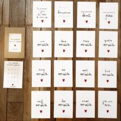 Première année de bébé immortalisée sur des cartes joliment illustrées à petit prix
