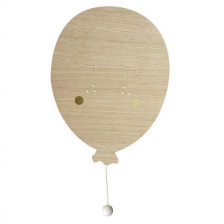 Magnifique boîte à musique en bois en forme de ballon pour décorer chambre d'enfants