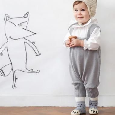 Chaussettes antidérapantes ours gris pour enfants de la marque Mama Siesta au meilleur prix