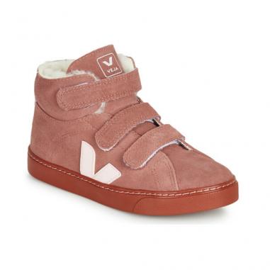 Sneakers montante Veja pour enfants fourrées à l'intérieur