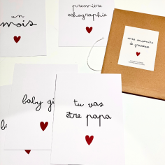 Cartes souvenirs de grossesse à petit prix pour future maman