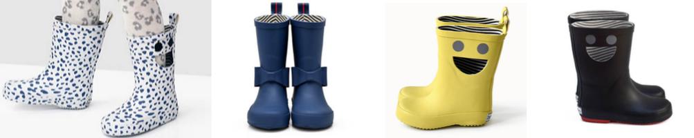 Collection de bottes de pluie enfants