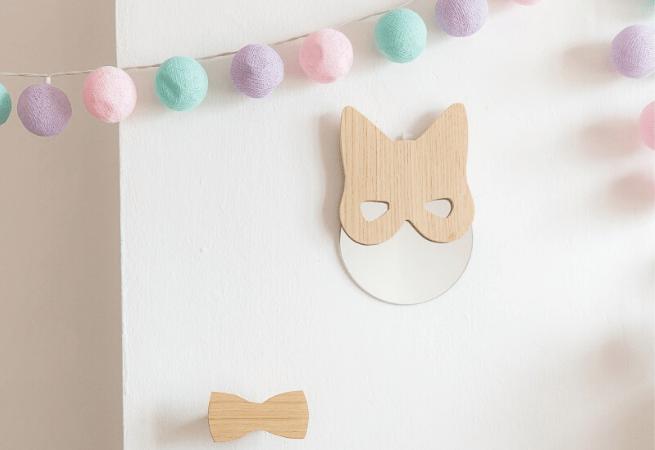 Miroir chat en bois