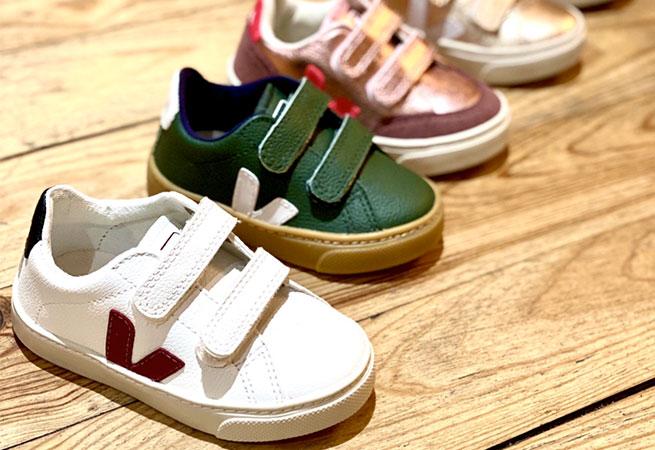 Sneakers enfants Veja la pepite française de la basket