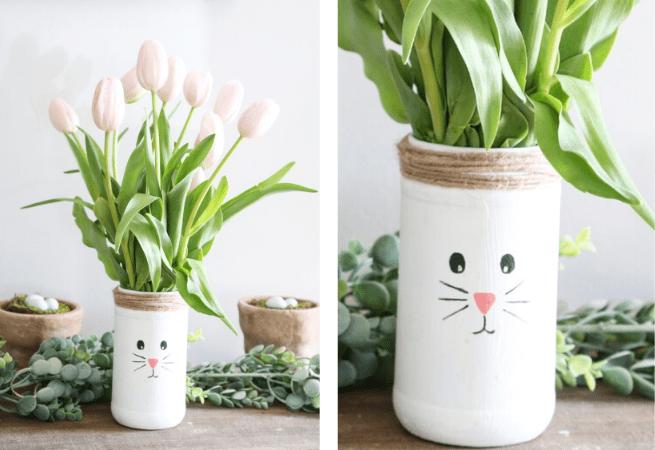 Vase lapin activité manuelle